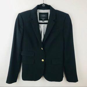 J Crew 0 Black Schoolboy Wool Blazer